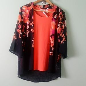 NWT Susan Graver two-piece top size Xs
